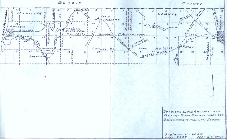Standard Gauge Route from Arcadia to Copemish